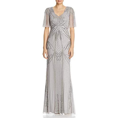 Adrianna Papell Women's Beaded Long Dress (Apparel)