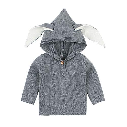 Great Price! Clothes for Baby Girl for Winter,Winter Crochet Tops Cartoon Hooded Warm Knit Sweater,B...