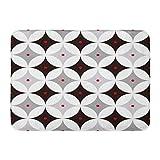 グレー50Sミッドセンチュリーモダン1950Sヴィンテージレトロアトミックレッド1940S 1960S屋内屋外ドアマットラグフロアマット滑り止め寝室用バスルームリビングルームキッチン23.6×15.7インチ家の装飾