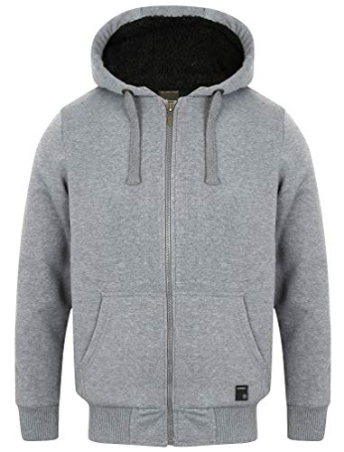 Bolo 2 Zip Through Hoodie With Borg Lining In Mid Grey Marl – Dissident-M