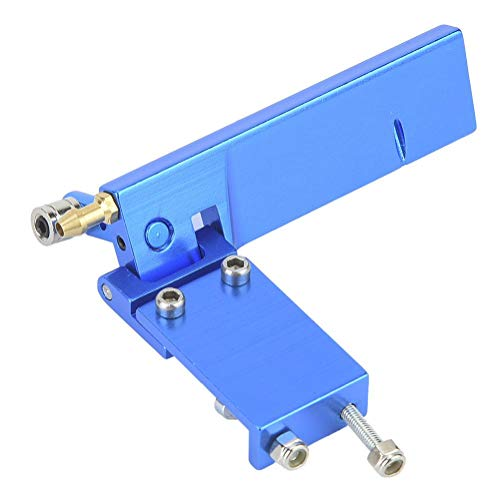 Dilwe RC Boot Ruder, Aluminium Ruder mit Wasseraufnahme für ferngesteuertes Elektro- / Methanolbootsmodell(blau, 95mm)
