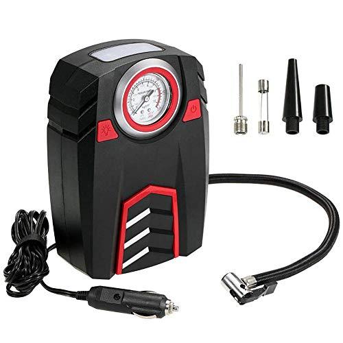 D&XQX Air Kompressor Auto, 12V Tragkraftspritze Gummireifen Mit LED-Digitalanzeige Bis Zu 100PSI Für Auto-Fahrrad-SUV Boot,Pointer Display