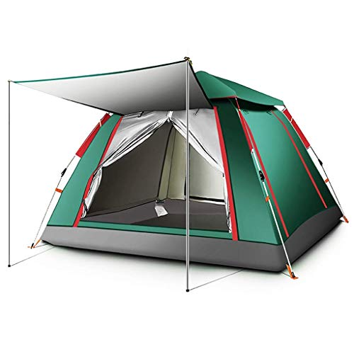 MRH 4-6 Mann Camping Zelt Automatische Pop-up wasserdichte Familienzelt Outdoor tragbare Kuppelzelt, 2 Farben, 2 Größen,BLAU,215 * 215 * 142CM