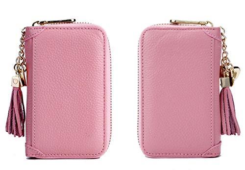 キーケース 多機能ポーチ 8連キーホルダー レディース フック式 取り外せる リング式 カード収納 かわいい ピンク
