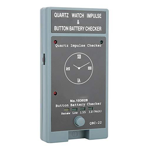 SALUTUYA Tragbarer 2 x 1,5-V-Batterietester für Uhrmacher und Uhrmacher