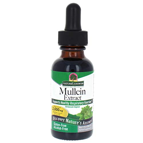 Nature\'s Answer, Königskerze, Mullein, Alkoholfrei, 2000 mg, 1 fl oz (30 ml)