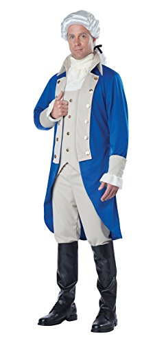 California Costumes Men's George Washington Costume, Blue/Tan, X-Large