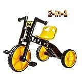 New Baby Push Trike, Regalo di compleanno per bambini per l'uso di 2 in 1 Triciclo per auto per bambini multifunzionale per bambini da trasportare e facile da esterno e da interno (Colore: giallo)