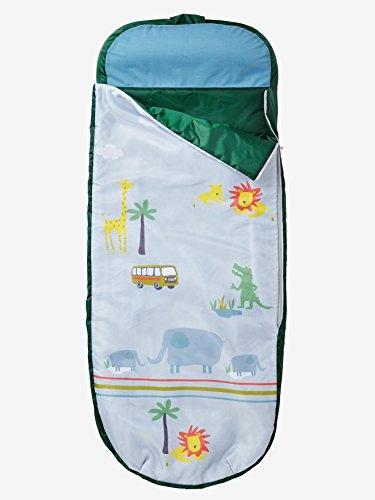 Vertbaudet Kinderschlafsack mit Luftmatratze Safari blau/grün Safari ONE Size
