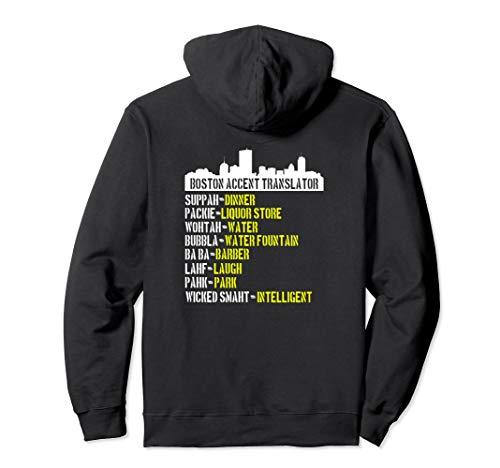 Boston Accent Translator Hoodie Wicked Smaht Bostonians