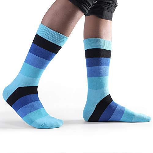 LifeWheel Men & Women Colorful Fun Striped Pattern Cotton Long Casual Dress Crew Socks