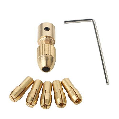 GTIWUNG 0.5-3mm Portabrocas para Taladro, Pinza de Taladro, Broca Collet, Broca Pequeña Eléctrico Collet Portabrocas Fijado con una llave Allen 3.17mm–Juego de 0,5 mm/1 mm/1,5 mm/2,5 mm/3,0mm