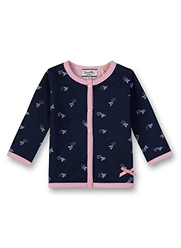 Sanetta Sanetta Baby-Mädchen Jacket Reversible Sweatjacke, Blau (Deep Blue 5993.0), 62
