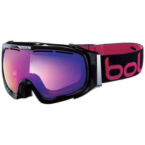Bolle Fathom Adult Snowmobile Goggles - Shiny Black/Aurora/Small/Medium