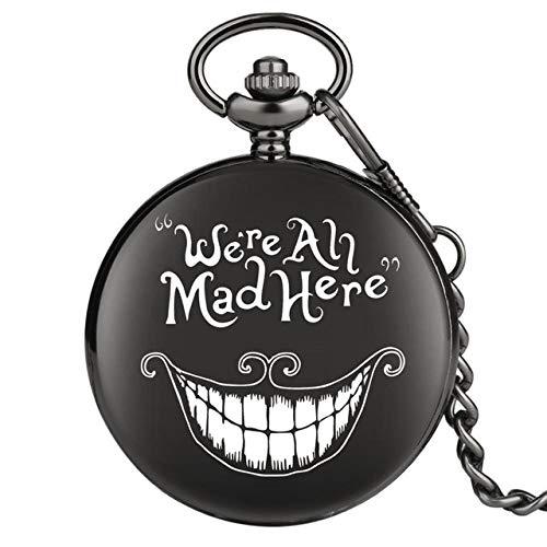 UIEMMY Reloj de bolsillo con signo comunista CCCP para hombres, aleación superior, cadena gruesa, clásico, colgante para regalo masculino, D