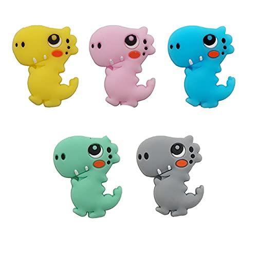 Chengkai 10pcs Silicona Koala Mordedor Beads DIY Animal Baby Shower Dentición Montessori Sensory Cartoon Jewelry Beads BPA Free-Dinosaur, China