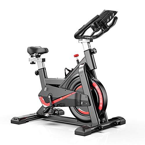 YUANP Cyclette Economica, per Casa con Schienale Bici Professionale Bicicletta Spinning in Offerta Ultrasport Pieghevole Salvaspazio Cyclette Bicicletta da Camera,Black