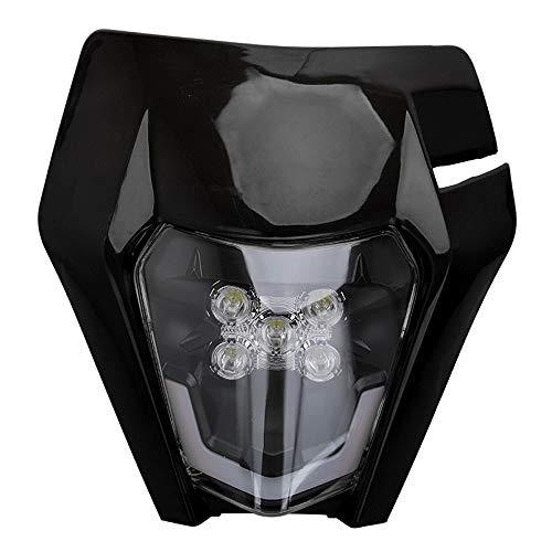 Motorrad Scheinwerfer LED Universal Scheinwerfer Verkleidung Licht Scheinwerfer für K.T.M EXC250 SX250 SXF250 EXC450 SX350 SXF450 EXC525 640LC4 Dirt Bike Motocross Enduro Supermoto-Schwarz