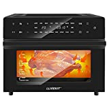 LLIVEKIT Air Fryer Oven with Rotisserie Mini Oven 30L Electric Oven Freestanding Convection Oven Countertop Low Fat Oil-Less Cooking, Timer & Temperature Control, 18 Preset Programs, 1800 Watts, Black
