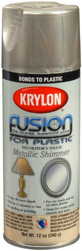 Krylon K02338007 Fusion For Plastic Metallic Shimmer Spray Paint, Nickel Shimmer, 12 Ounce