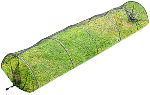 DIVCHI Net Grow Tunnel Plant Cover Black - Lasting Protection Against Birds, Deer and Other Pests