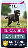 Eukanuba Cibo Secco per Cani Adulti di Taglia Grande, Ricco di Pollo Fresco, 15 kg
