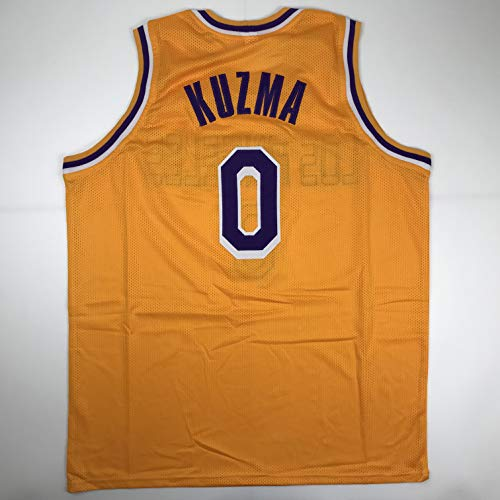 Unsigned Kyle Kuzma Los Angeles LA Yellow Custom Stitched Basketball Jersey Size Men's XL New No Brands/Logos
