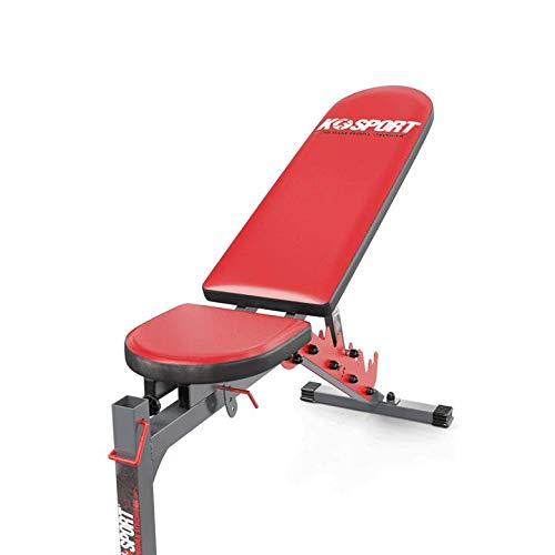 K-Sport Verstellbare Hantelbank, Heimtraining, Fitnessstudio, Gewichtheben, Sit-Up-Bank, flache Neigung, Mehrzweck-Trainingsbank