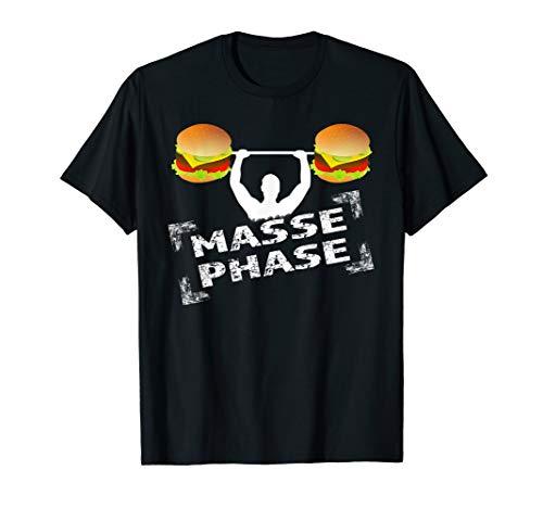 MASSE PHASE Burger Hantel Gewicht Gym Trainingsshirt