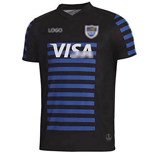 Camiseta de rugby, camiseta de rugby 2020-2021, camiseta de local y camiseta de visitante de Argentina, camiseta deportiva informal, absorbente de sudor, transpirable y de secado rápido, S-3XL S B