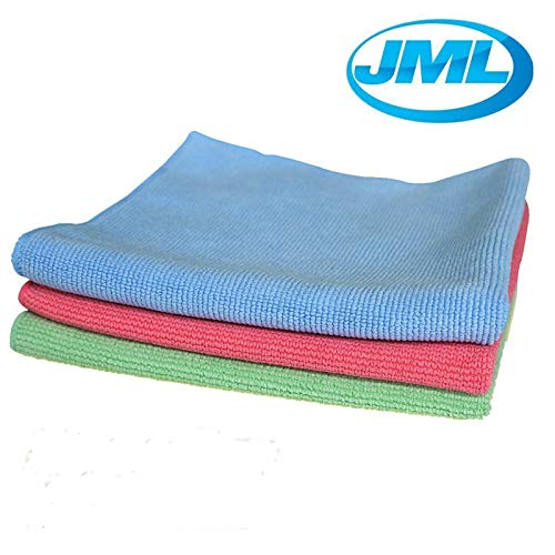 JML Microfibre 3D Cleaning Polishing Towel Cloths Super Soft Duster Auto Wash Clean 4 Pack