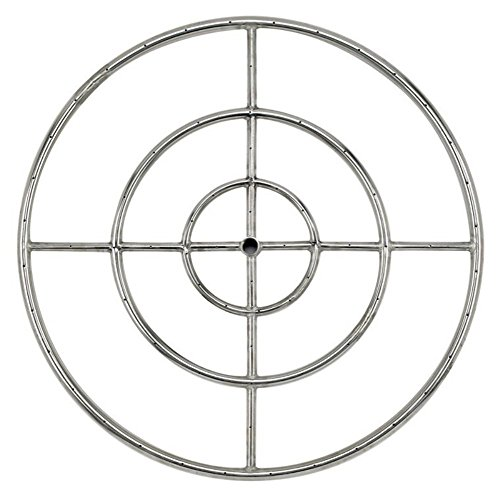 Stanbroil 36' Round Fire Pit Burner Ring, 304 Series Stainless Steel, BTU 443,000 Max