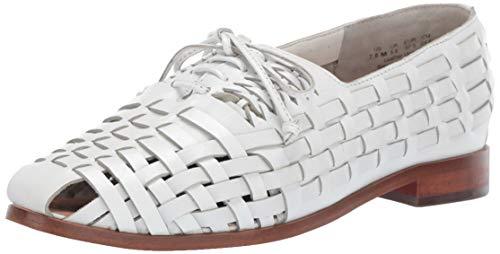 Sam Edelman Women's Rishel Loafer Flat, Bright White Leather, 11 M US