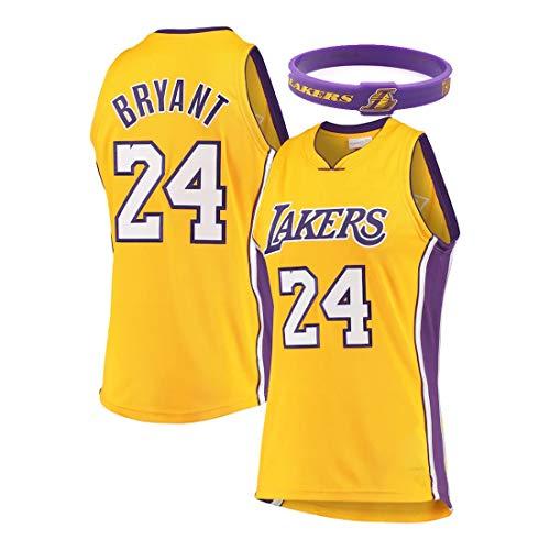 YUUY Jersey de Baloncesto para Hombres Kobe Bean Bryant # 24 Los Angeles Lakers Sports Running T-Shirt, Bordado a Mano, Colores múltiples Disponibles (Color : D, Size : XXXX-Large)
