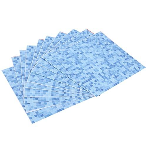 Decoración de pared, papel tapiz autoadhesivo adhesivo 10 piezas pegatinas de azulejos de pared para muebles de pared, piso, escalera o cualquier superficie lisa