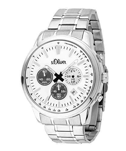 s.Oliver Herren-Armbanduhr Chronograph SO-3691-MC