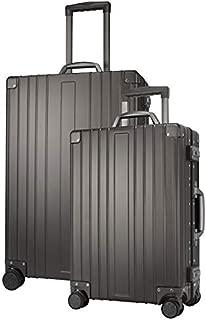 Winbest Aluminum Travel Luggage 2 pc set Hard Shell Suitcase TSA Lock Spinner, Grey