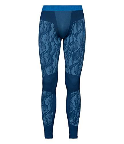 Odlo Collants pour Homme BL Blackcomb L Estate Blue - Directoire Blue - Directoire Blue