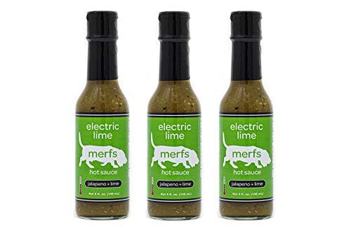 Merfs Electric Lime Jalapeño Hot Sauce