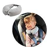 Baby Reisekissen/Nackenstütze/Kopfstütze mit Magneten befestigt, 1-2 JAHRE, Farbe: GREY