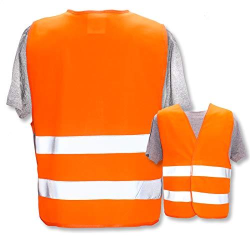 Persönliche Warnweste selbst gestalten mit eigenem Aufdruck * Bedruckt mit Name Text Bild Logo Firma, Menge:1 Warnweste, Farbe/Position:Orange/OHNE Druck