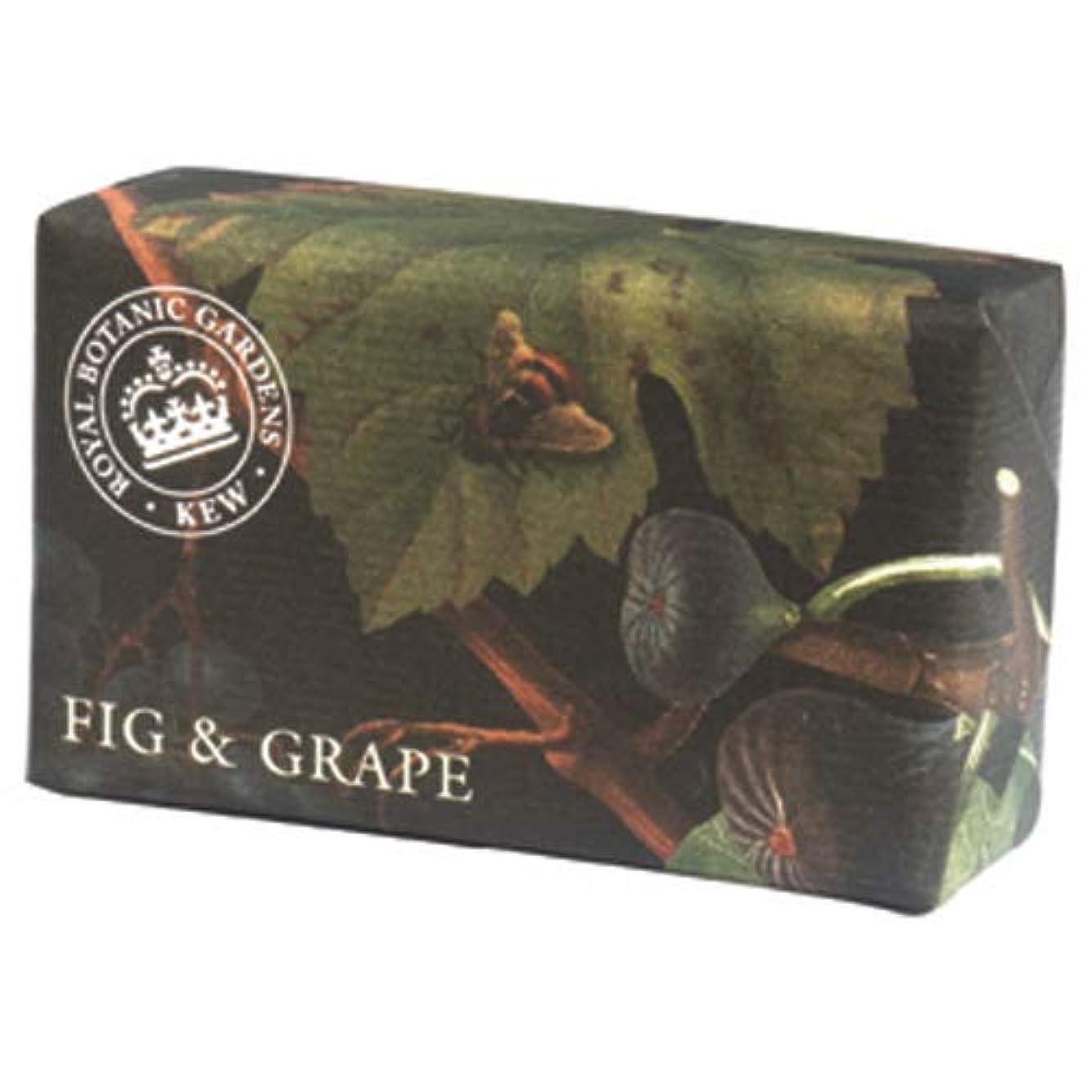 大通り症状デザートEnglish Soap Company イングリッシュソープカンパニー KEW GARDEN キュー?ガーデン Luxury Shea Soaps シアソープ Fig & Grape フィグ&グレープ
