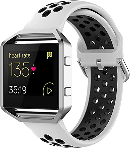 Classicase Correa de Reloj Recambios Correa Relojes Caucho Compatible con Fitbit Blaze - Silicona Correa Reloj con Hebilla (Pattern 7)