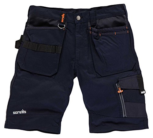 Scruffs Trade Short, Pantalones para Hombre, Azul (Ink Blue), 44 ES (34