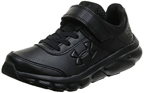 Under Armour Grade School Assert 8 UFM SYN Sneaker, Black (001)/Black, 3.5...
