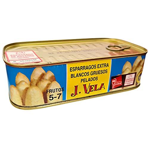 Espárragos de Navarra Extra - Denominación de Origen Navarra - Especial 5-7 Frutos J. Vela - Producto Recomendado - Espárragos Gruesos Pelados