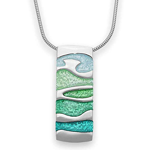 Sterling Silver Traditional Scottish Arizona Tundra Enamel Hand Crafted Necklace Pendant