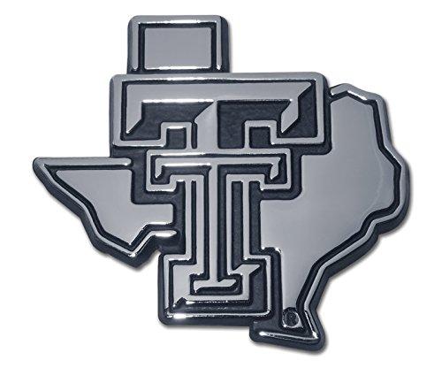Texas Tech Texas Shaped Auto Emblem (Metal)
