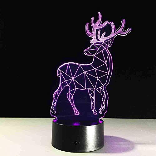 7 Changement De Couleur Cutie Milu Deer 3D Illusion Lampe De Table 3D Veilleuse Bébé Dormir Veilleuse Enfants Cadeau De Noël