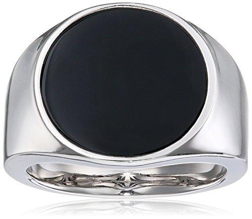 caï men Herren-Ring 925 Silber rhodiniert Onyx schwarz 62 (19.7) C4239R/90/13/62